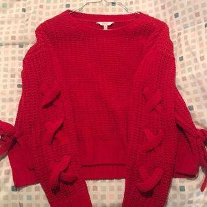 Candies cross sleeve side tie sweater